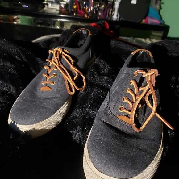 Polo by Ralph Lauren Other - POLO Ralph Lauren Chambrey Denim Sneakers Size 10